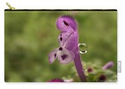 Rain Drop Olympics On Dead Nettle Flower Carry-all Pouch