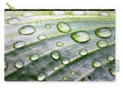 Rain Drops On A Leaf Carry-all Pouch