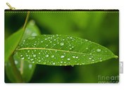 Rain Drops On Leaves #1 Carry-all Pouch