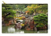 Rain On Kyoto Garden Carry-all Pouch by Carol Groenen
