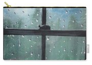 Rain On The Window Carry-all Pouch