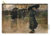 Rain Storm Union Square Carry-all Pouch by Childe Hassam