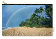 Rainbow At Pipeline, North Shore,  Carry-all Pouch
