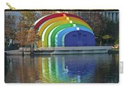 Rainbow Bandshell And Swan Carry-all Pouch