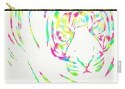 Rainbow Coloured Tiger Carry-all Pouch