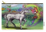 Rainbow Faeries And Unicorn Carry-all Pouch