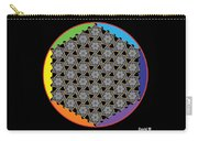 Rainbow Flower Of Life Wob Carry-all Pouch
