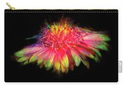 Rainbow Flower On Black Carry-all Pouch