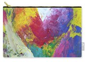 Rainbow Heart In The Cloud Acrylic Paintings Carry-all Pouch