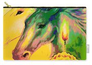 Rainbow Horses And The Pearl Of Light Carry-all Pouch