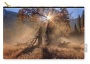 Rainbow In Yosemite Valley Ice Fog Carry-all Pouch