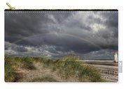 Rainbow Lighthouse Carry-all Pouch by Adrian Evans