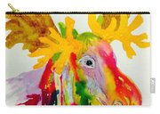 Rainbow Moose Head  - Abstract Carry-all Pouch