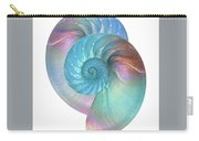 Rainbow Nautilus Pair On White Carry-all Pouch