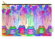 Rainbow Of Painted Frogs Carry-all Pouch