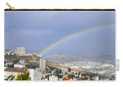 Rainbow Over Haifa, Israel  Carry-all Pouch