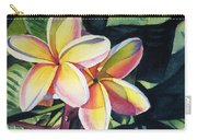 Rainbow Plumeria Carry-all Pouch by Marionette Taboniar