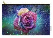 Rainbow Rose In The Rain Carry-all Pouch