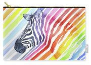 Rainbow Zebra Pattern Carry-all Pouch