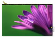 Raindrop On Purple Petal Carry-all Pouch