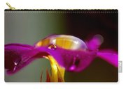Raindrops On A Pink Flower Carry-all Pouch