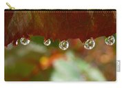 Raindrops On A Red Leaf Carry-all Pouch
