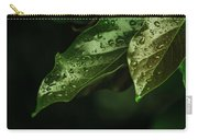 Raindrops On Avocado Leafs Carry-all Pouch