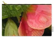 Raindrops On Coral Flowers Carry-all Pouch