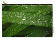 Raindrops On Green Leaves Carry-all Pouch by Carol Groenen