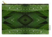 Raindrops On Green Leaves Collage Carry-all Pouch
