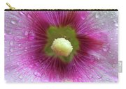 Raindrops On Hollyhocks Carry-all Pouch