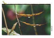 Raindrops On Leaf 3 Carry-all Pouch