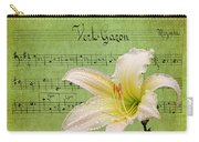 Raindrops On Lily Carry-all Pouch