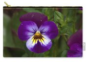 Raindrops On Pansies Carry-all Pouch