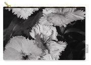Raindrops On Petals Monochrome Carry-all Pouch