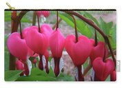 Raindrops On Pink Bleeding Hearts Carry-all Pouch