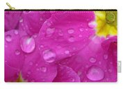 Raindrops On Pink Flowers Carry-all Pouch by Carol Groenen