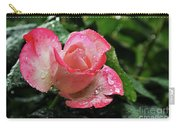 Raindrops On Pink Rose Carry-all Pouch
