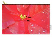 Raindrops On Red Carry-all Pouch
