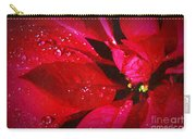 Raindrops On Red Poinsettia Carry-all Pouch