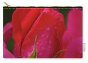 Raindrops On Roses Carry-all Pouch by Valeria Donaldson