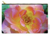 Raindrops On The Pink Rose Carry-all Pouch