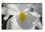 Raindrops On White Irises Flowers Sunlit Baslee Troutman Carry-all Pouch