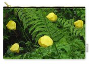 Raindrops On Yellow And Green Carry-all Pouch