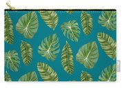 Rainforest Resort - Tropical Leaves Elephant's Ear Philodendron Banana Leaf Carry-all Pouch