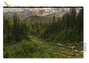Rainier And Majestic Meadows Of Wildflowers Carry-all Pouch