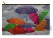 Raining Umbrellas Carry-all Pouch by Wayne King