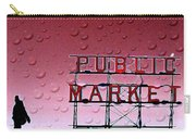 Rainy Day At The Market Carry-all Pouch