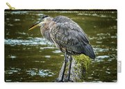 Rainy Day Heron Carry-all Pouch by Belinda Greb