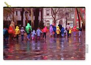 Rainy Day Rainbow - Children At Independence Square Carry-all Pouch